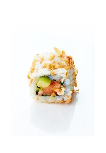 Crispy tartare de saumon epicé